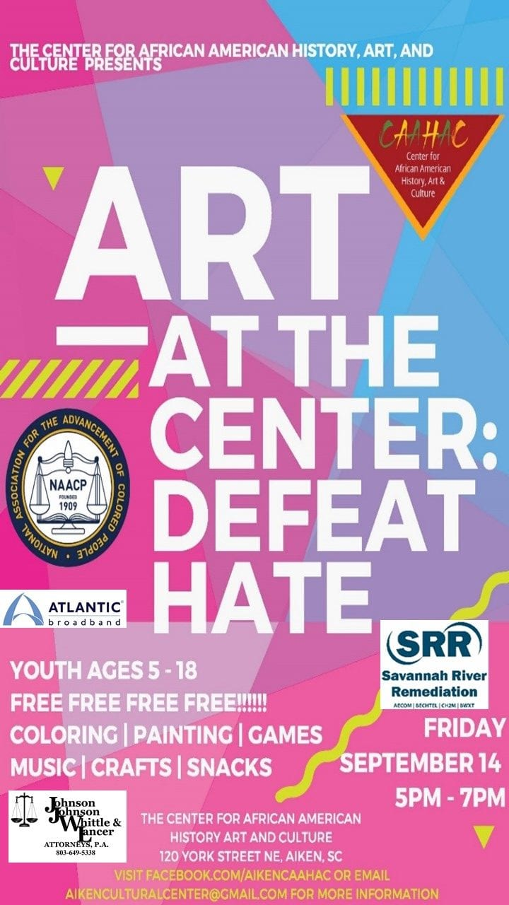 Art at the Center:  Defeat Hate